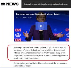 Bernie's words in Warren's mouth
