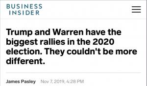 Bernie's rally sizes ignored
