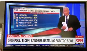 Bernie in 2nd, CNN chyron