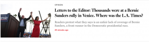 LA Times doesn't cover 14,000 Venice rally